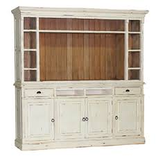 Distressed White Bookcase by Hutson Open Media Open Tv Entertainment Display White With