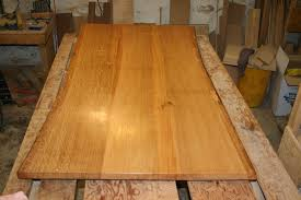 Natural Slab Dining Table Custom Made White Oak Dining Table Top Live Edge By Fredric Blum