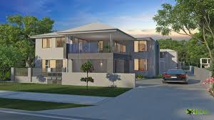 country 3d home design for 2 floors home using stone as wall cover