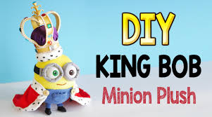 christmas craft idea diy king bob minion plush free pattern fun
