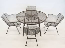 Wrought Iron Patio Furniture For Sale by Furniture Awesome Dining Chair In Black Made Of Iron By Woodard