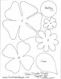 8 best images of 3d paper flower template craft paper flower