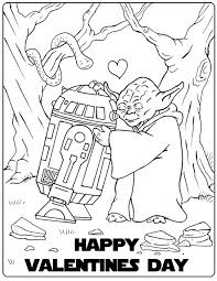 star wars valentine coloring pic