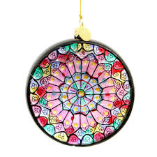 100 stained glass christmas ornament twelve days of
