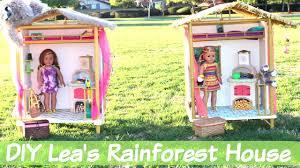 diy american doll lea u0027s rainforest house youtube