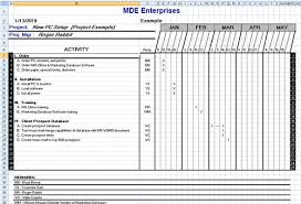 free it project plan template in excel format