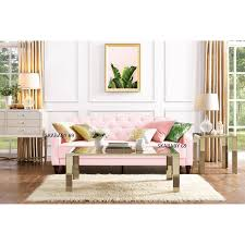 Pink Sleeper Sofa New Decadent Tufted Pink Velour Sleeper Sofa Convertible Day