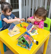 painted birdhouse craft for toddlers grace giggles u0026 naptime