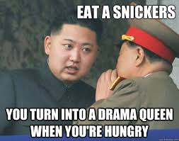 Eat A Snickers Meme - eat a snickers you turn into a drama queen when you re hungry
