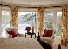 bedroom design with beautiful curtains and drapes home interior