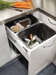 Kitchen Recycling Bins For Cabinets Pull Out Food Bins Design Ideas