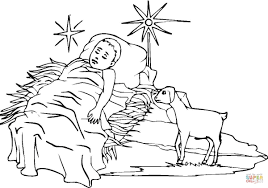 jesus in the manger coloring page baby jesus coloring page free printable coloring pages