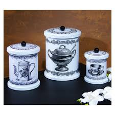 tin kitchen canisters tea time tin kitchen canisters 36009 baubles n bling