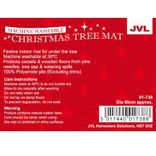 jvl festive tree machine washable floor mat