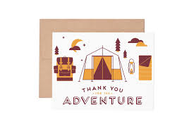 thank you for the adventure thank you greeting card ruff house