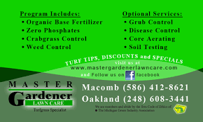 Mowing Business Cards Services Macomb County Lawn Fertilizing Service