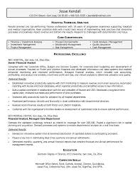 Core Qualifications Examples For Resume by Sample Resume Of Financial Analyst Ilivearticles Info