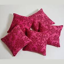 Swayam White N Pink Floral Buy Cushion Covers Online Cotton Cushion Covers In Solid