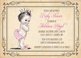 baby girl baby shower invitations princess baby shower invitation girl vintage princess baby