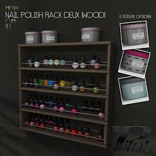 second life marketplace pilot nail polish rack deux wood