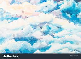 bright painted cloudy sky background unreal stock illustration