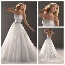 white organza silver beading corset princess bridal dress front