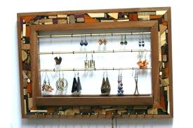 wall mounted jewelry cabinet necklace holder wall mounted jewelry organizer for wall jewelry