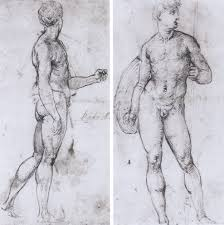 epph raphael u0027s studies after michelangelo u0027s david 1507 8