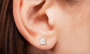 1 4 carat diamond earrings diamond earrings groupon goods