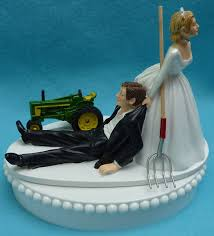 deere cake toppers wedding cake topper deere green tractor themed w by wedset