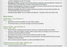 Cashier Resume Sample by Absolutely Design Cashier Resume Sample 4 Writing Guide Cv