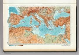 World Atlas Maps by 101 Mediterranean Sea The World Atlas David Rumsey Historical