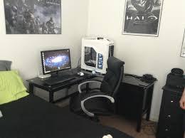 l shaped desk gaming setup furniture charming walker edison desk exquisite l shaped