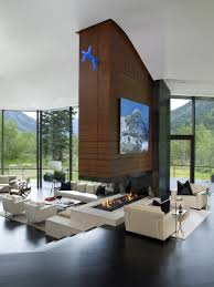 livingroom fireplace 23 double sided fireplace designs in the living room home design