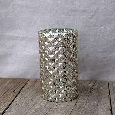 Glass Vase Cylinder Diamond Mercury Glass Vases Ae Creative