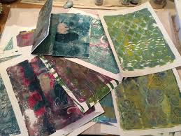 a new journal from gelli prints ginger burns