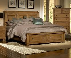 Storage Beds Vaughan Bassett Furniture Bed Buy Reflections Oak Sleigh Storage Bed
