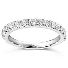 gold diamond wedding band diamond wedding band 1 2 carat ctw in 14k white gold