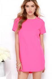 pink dress hot pink dress zipper dress shift dress 28 00