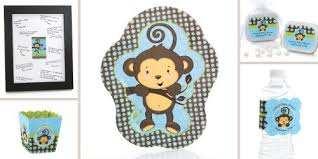 monkey baby shower ideas monkey boy baby shower decorations theme babyshowerstuff