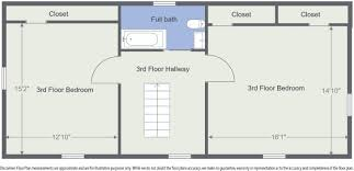 Floor Plan Measurements Moses Davis Jr House Built 1803 Sold Bisson Real Estate Athens