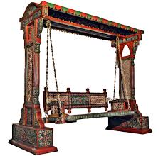 Living Room Jhula Jaisalmer Jharokha Design Wooden Carved Royal Swing Set Indoor