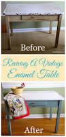 Vintage 1950 S Metal Kitchen Cabinet Enamel Top Ebay by 166 Best Vintage Enamel Top Tables Images On Pinterest Vintage
