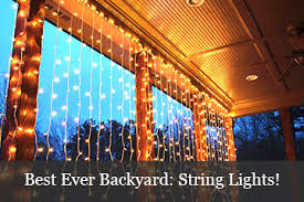 Backyard String Lighting by Tree Lights For Spring And Summer Yard Envy