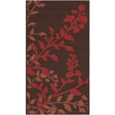 Safavieh Rooster Rug by Safavieh Courtyard Natural Red 2 Ft 7 In X 5 Ft Indoor Outdoor
