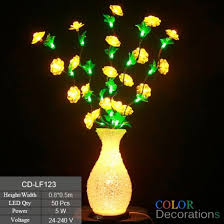 cd lf123 led lighted vase l flower basket light wedding