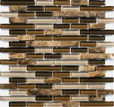 Glass Mosaic Kitchen Backsplash by Sample Emperor Marble Brown Glass Blends Mosaic Tile Kitchen