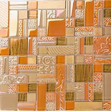 deluxe glass metal mosaic sheets brushed aluminum backsplash glass