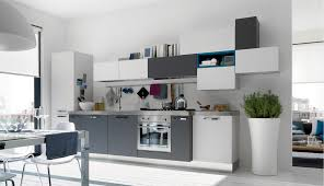 via open modern kitchens with few pops of color design ideas