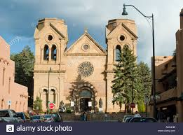 The Santa Fe New Mexican St Francis Of Assisi Church In Town Square Plaza Santa Fe New